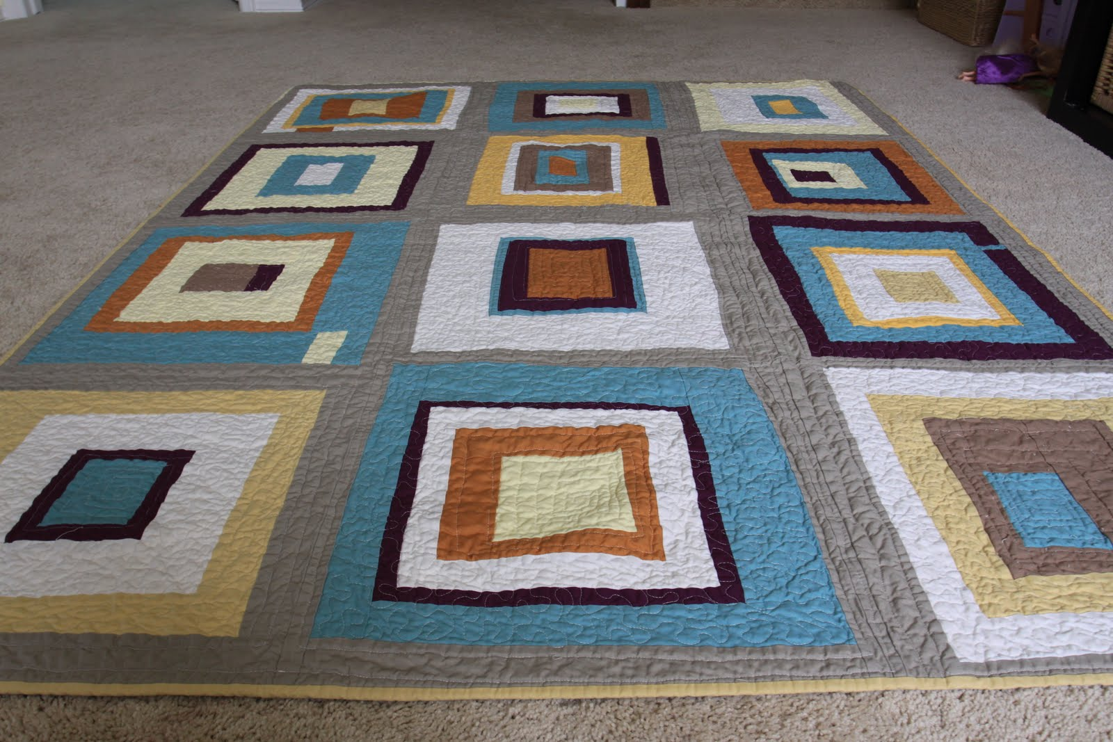 Easy Quilt Patterns For Guys : Angie Creates: Man Quilt