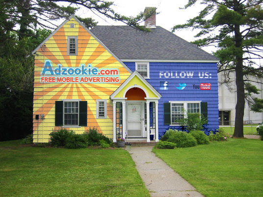 Adzookie house paint billboard