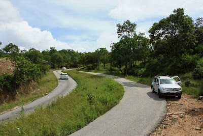 The Yellandur - BR Hills road amidst the forests of BRT tiger reserve, Karnataka, India