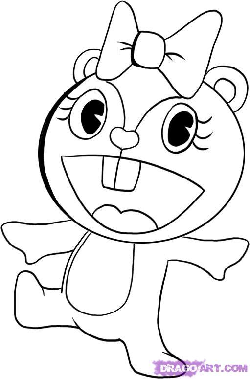 Dibujos de happy tree friends para colorear - Imagui