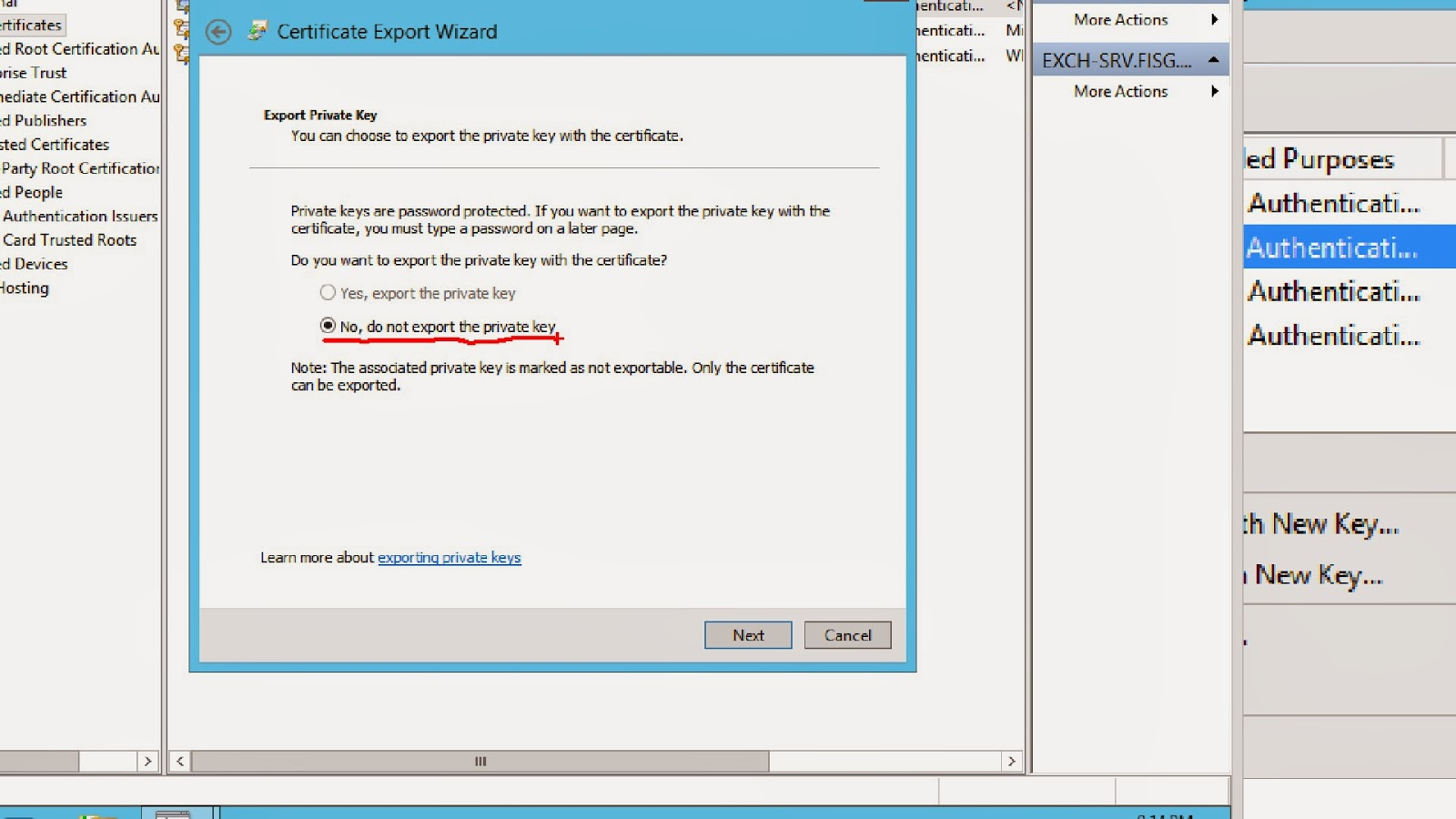 Fisg florida it server group deploying an internal pki for do not export the private key as it is not needed for azure recovery services click next 1betcityfo Image collections