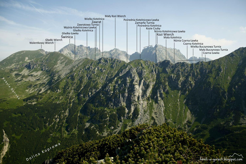 panorama z Przybylińskiej Czuby