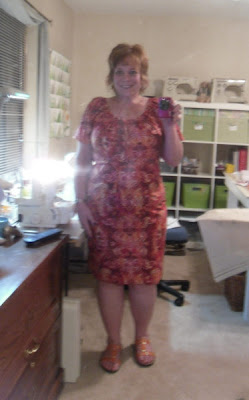 Here's the dress on Zillie, where you can see the print better. This