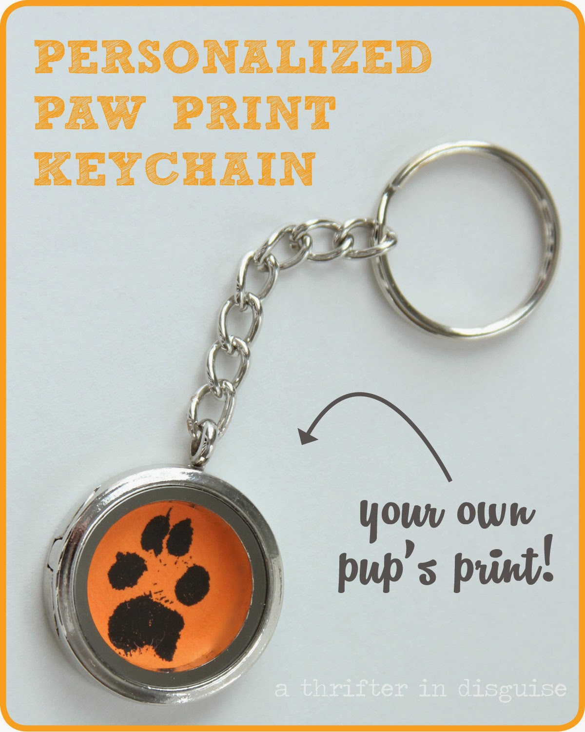 How to make a keychain from your pet's paw print