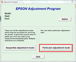 select direct mode adjustment
