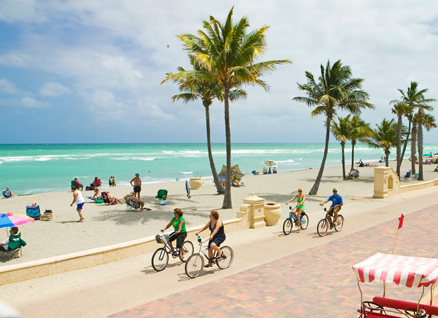 Beaches in Miami Hollywood Beach