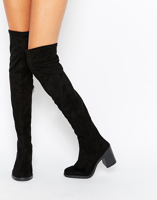 asos over knee boots, over knee suede boots,