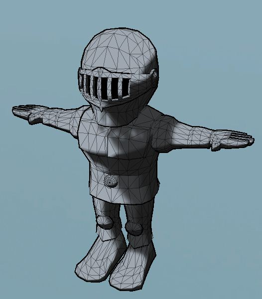 3D cartoonish knight model in Unity 3D