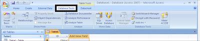 Menu menu dalam Microsoft Access