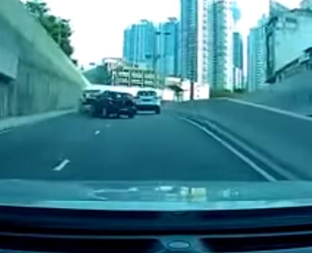 VW Polo Langgar Lari Sebuah Kereta Polis Peronda Jadi Viral