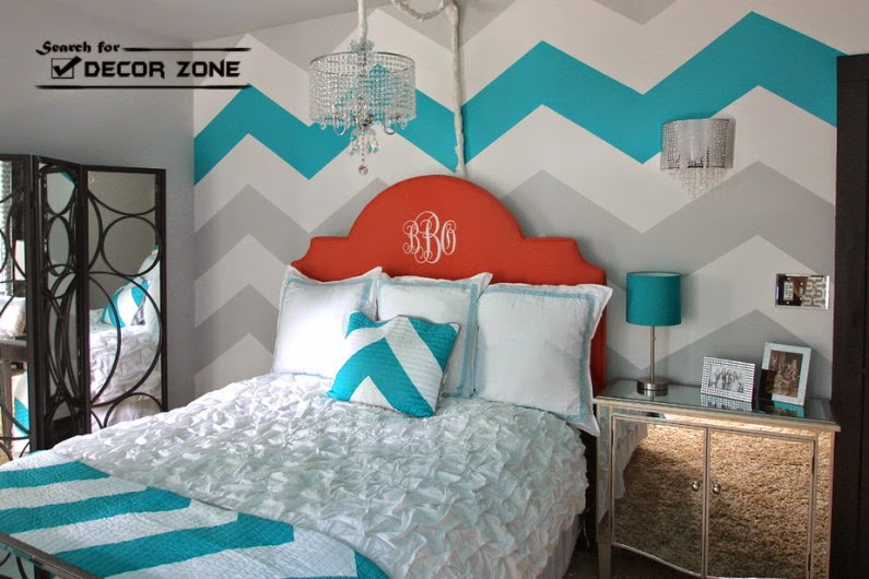 7 wall painting techniques and ideas for modern home for Zig zag bedroom ideas