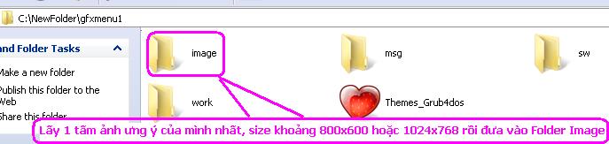 Hướng dẫn làm hình nền full màu menu Grub4Dos khi boot