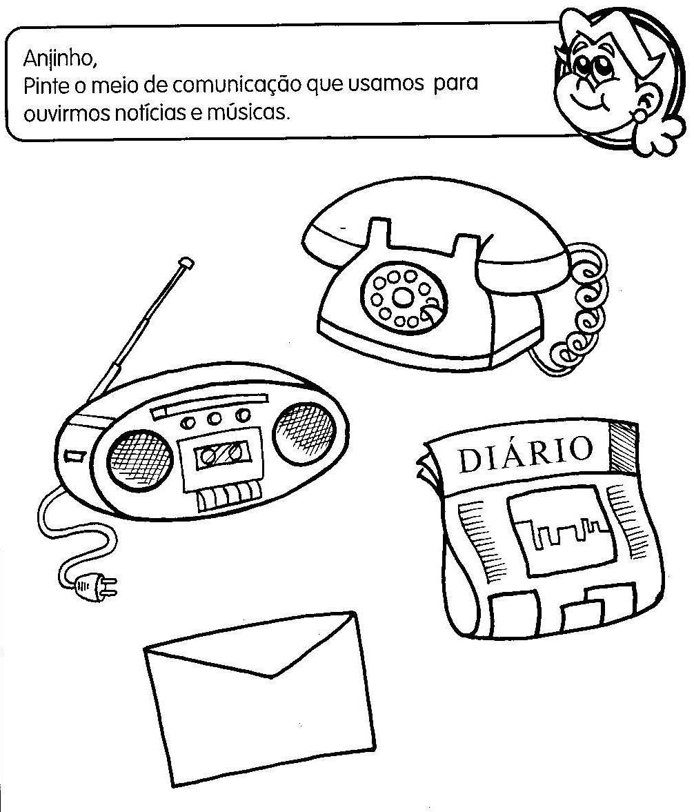 Desenhos para colorir Meios de Comunicação Desenhos  - imagens para colorir meios de comunicação