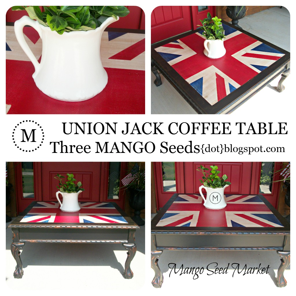 Three Mango Seeds Union Jack Coffee Table