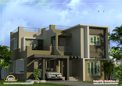 Modern Duplex Home design - 1873 Sq. Ft. | Indian House Plans