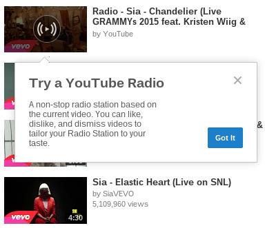 """تعرف على """" Youtube Radio """" ميزة يوتيوب الجديدة"""
