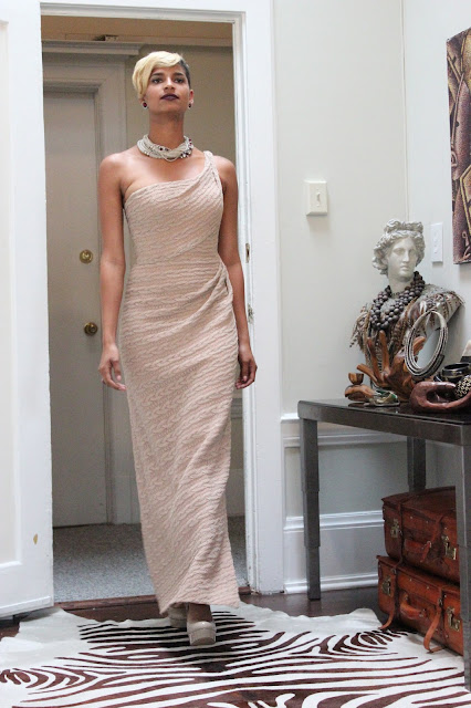 The Factory Column Gown
