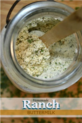 Homemade Ranch Seasoning Mix & Salad Dressing (Buttermilk)