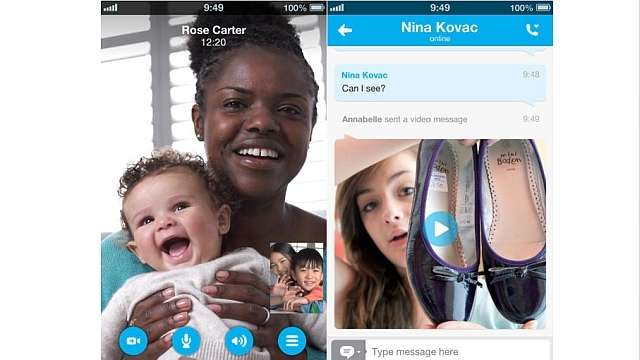 Skype for iOS devices updates, now lets you make HD quality video calls at 720p on your iPhone 5 or iPad 4