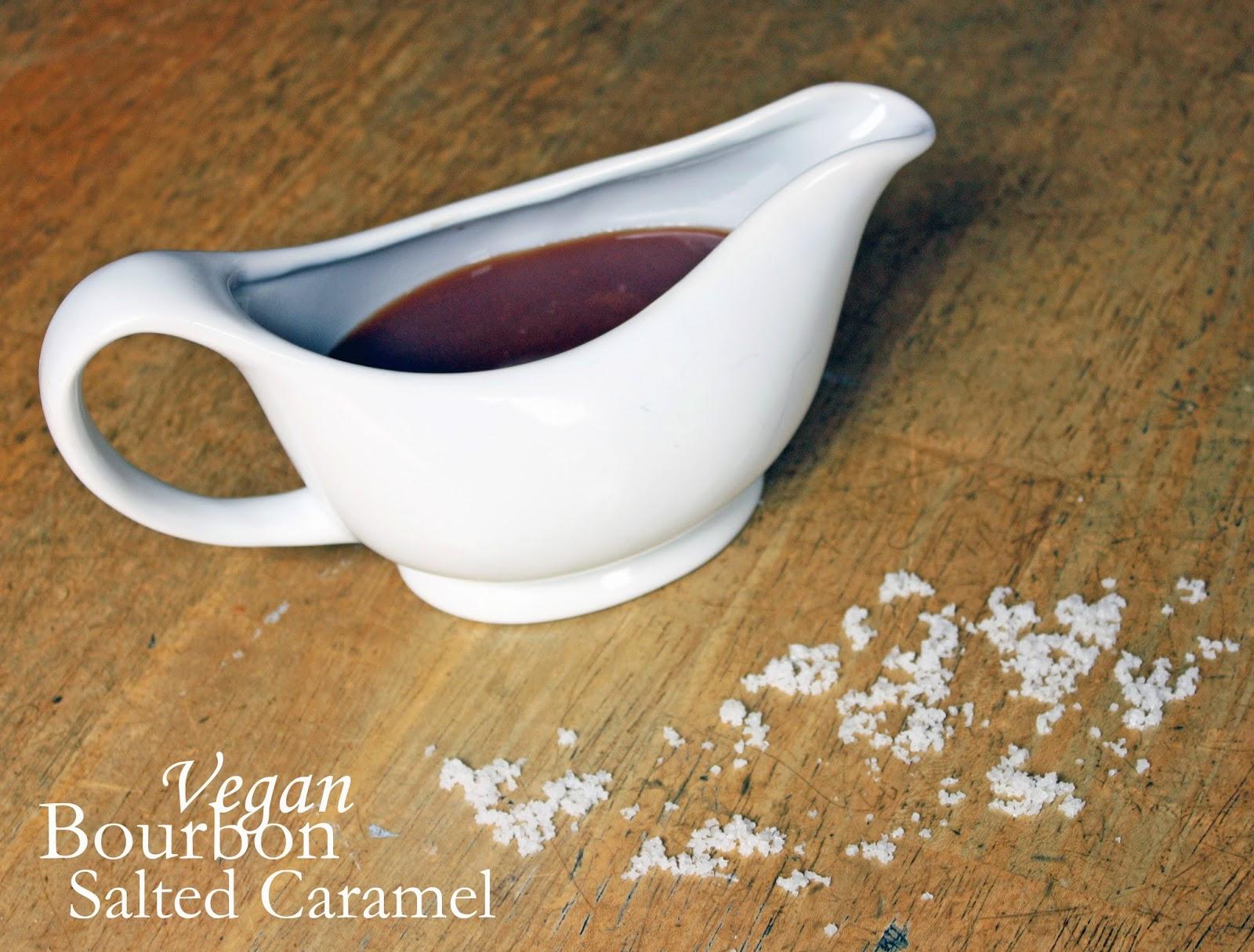 vegan bourbon salted caramel sauce