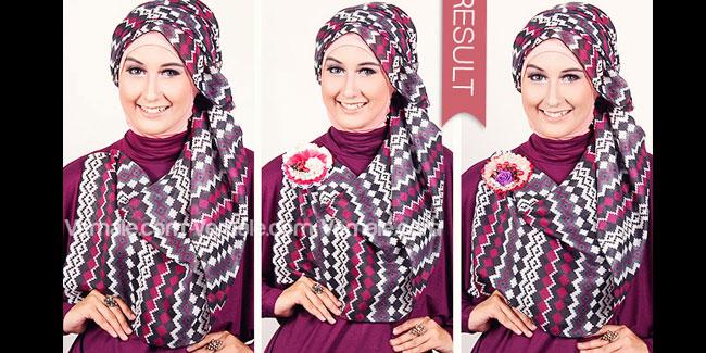 5 Cara Mudah Menggunakan Hijab Motif Tribal Dekoratif