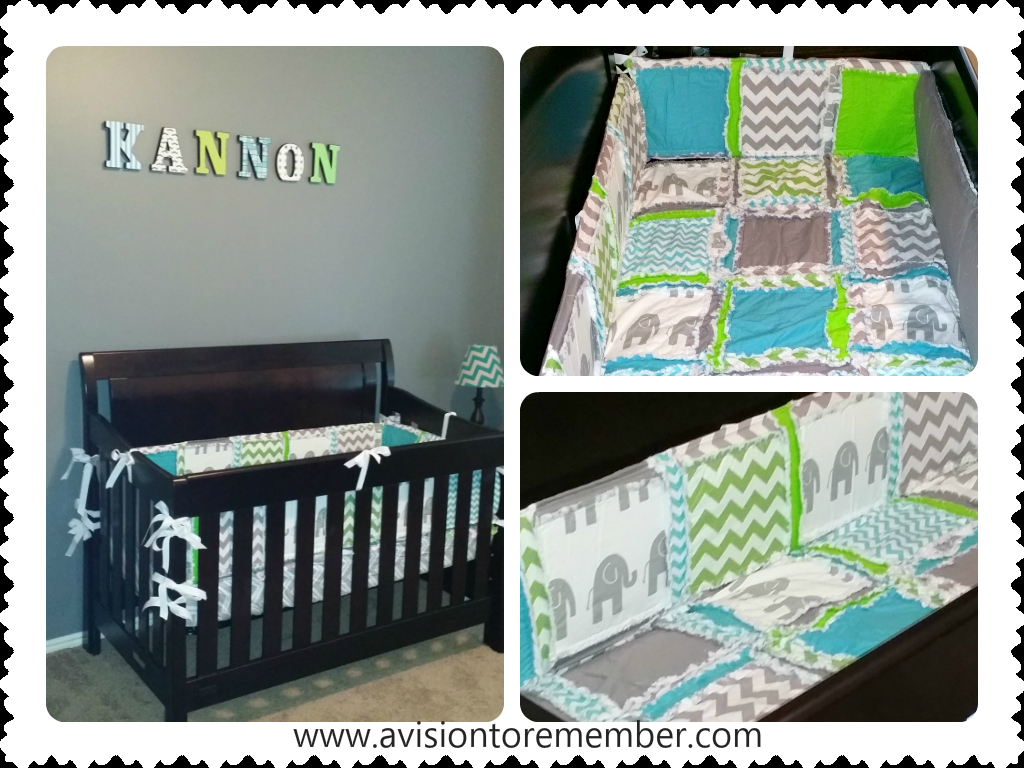 Customer Submission: Elephant Crib Bedding | A Vision to Remember ...