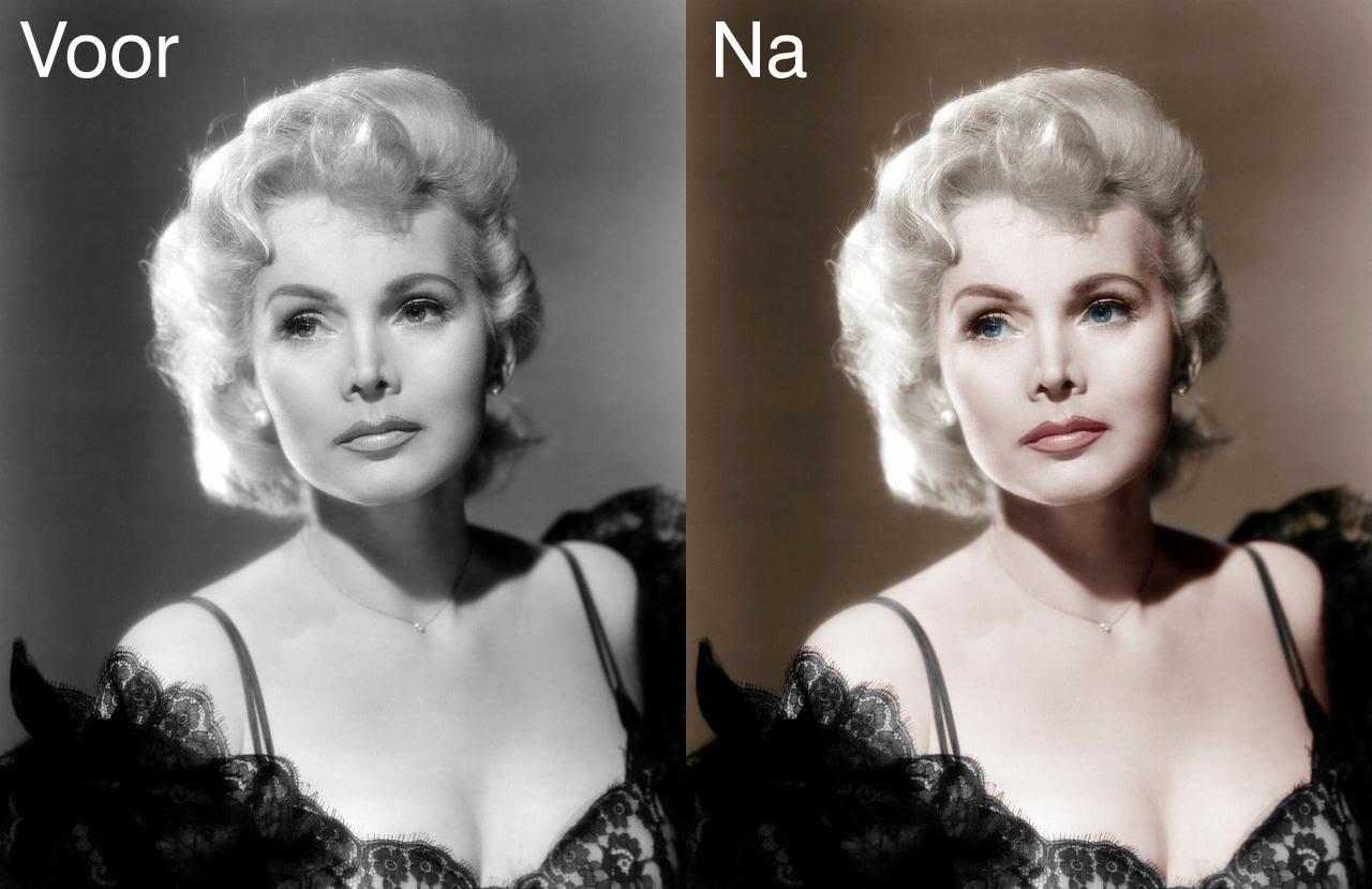 inkleuren van zwart wit foto