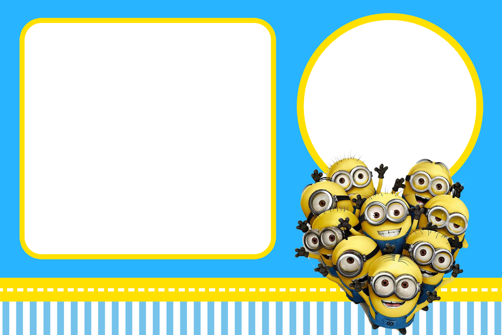 Despicable Me Invitations And Party Free Printables Is It For - Birthday invitation template minions