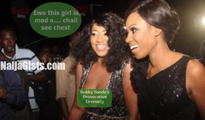 rukky sanda exposes breasts