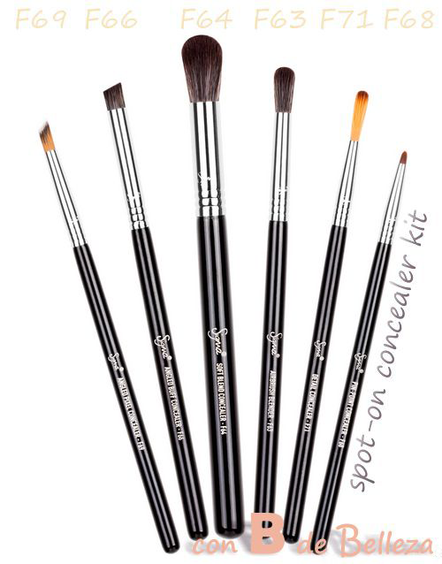Spot-on concealer kit Sigma brochas