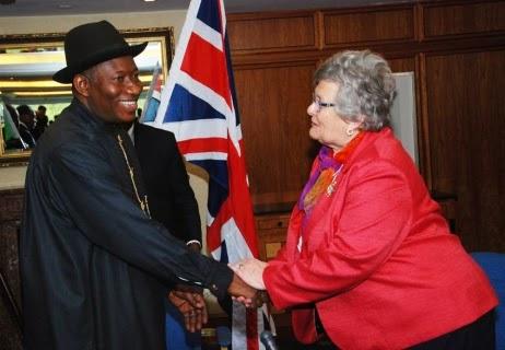 President Jonathan in London