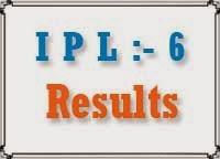 ipl 6 results