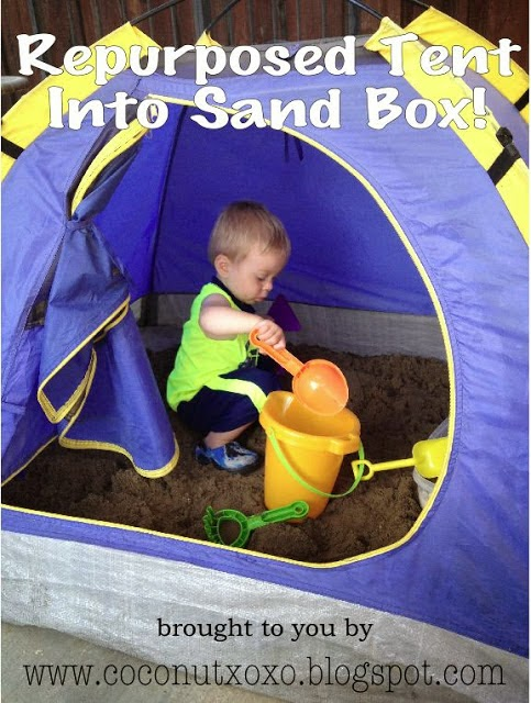 http://coconutxoxo.blogspot.com/2013/06/repurpose-kids-tent-into-sandbox.html