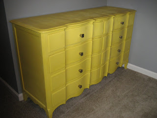 dresser painted yellow, yellow painted dresser, yellow painted mirror, painted yellow mirror, yellow painted nightstands, yellow painted night stands, painted yellow nightstands, painted yellow night stands, gray room with yellow furniture, yellow and gray room, gray and yellow room