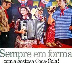 Propaganda da Coca-Cola nos anos 50: campanha para que as pessoas mantivessem a forma