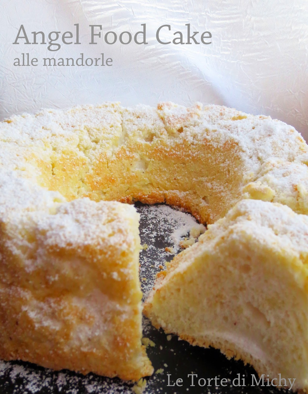 angel food cake alle mandorle