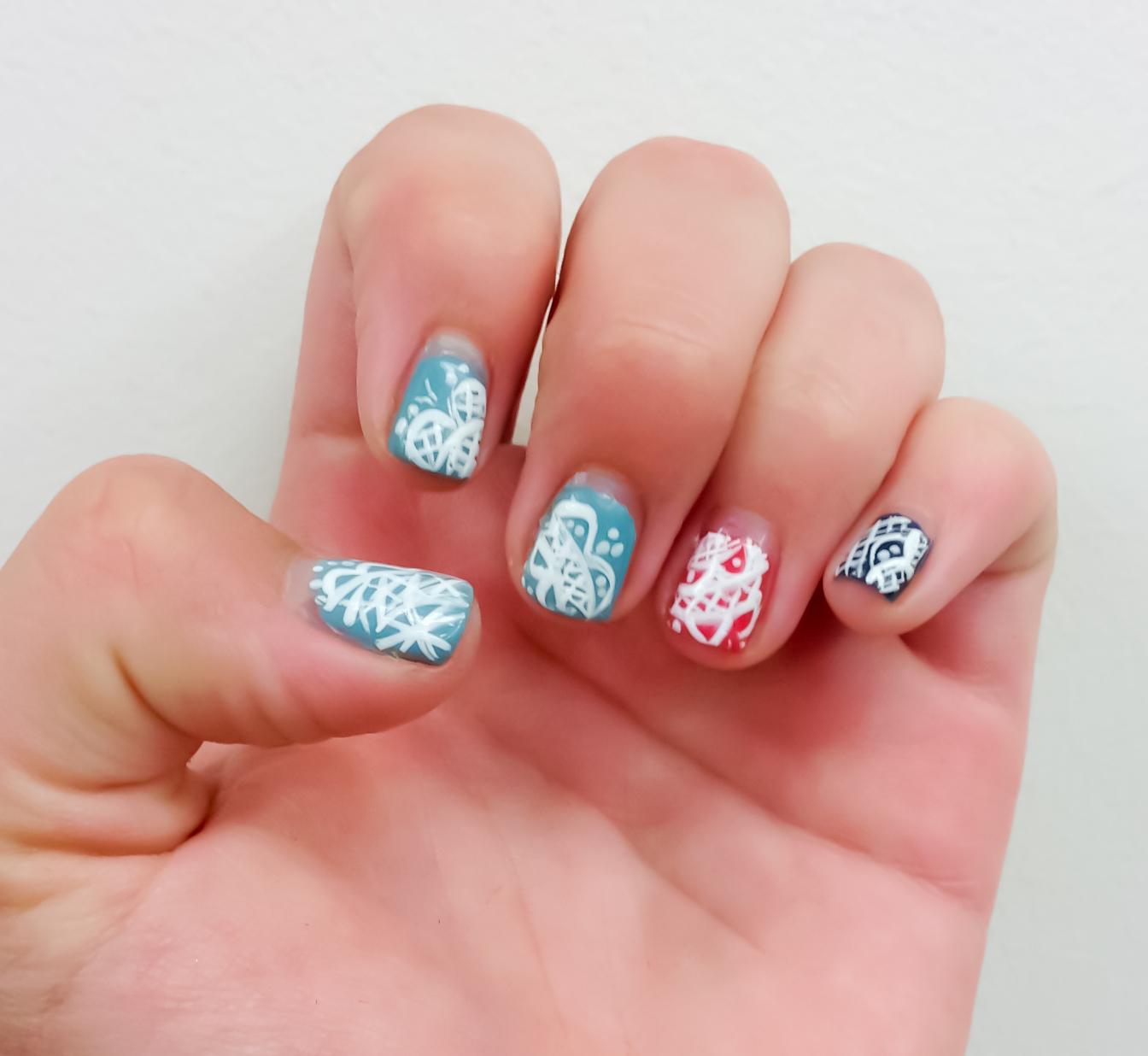shellac nail designs pinterest