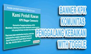 Membuat Banner Amal KPK Dengan Fungsi Toggle