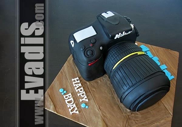 Top view of camera cake