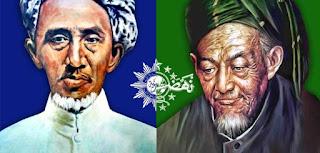 KH Hasyim Asy'ari dan KH Ahmad Dahlan