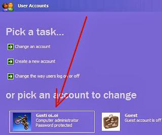 Cara buat Password Komputer Windows XP