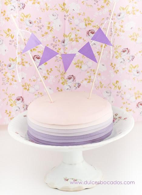Tarta de cumpleaños de vainilla y nutella