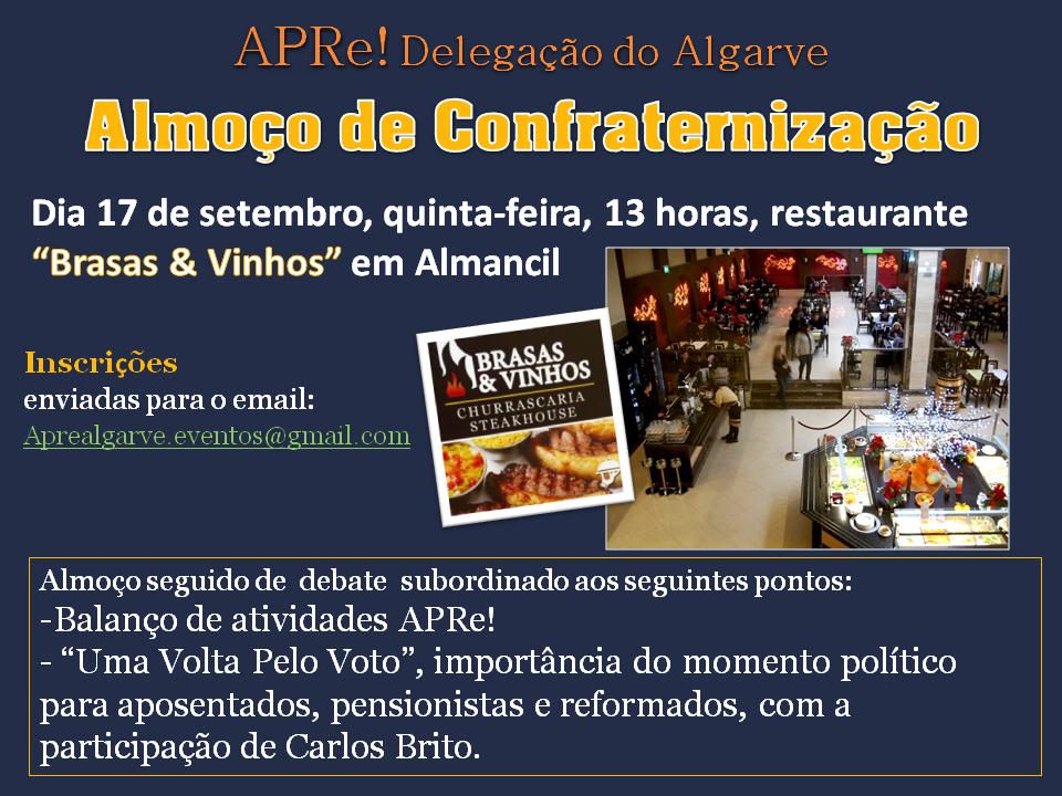Almoço e reunião da Delegação da APRe! no Algarve, Almancil