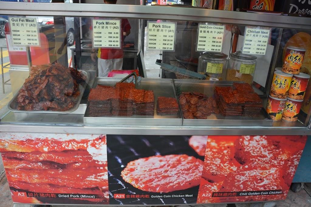 Chinatown Kuala Lumpur pork meat