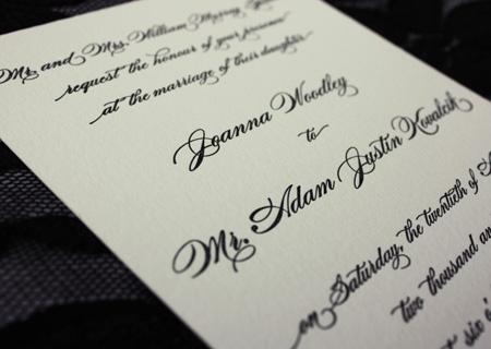 Elegant Wedding Invitations Fonts