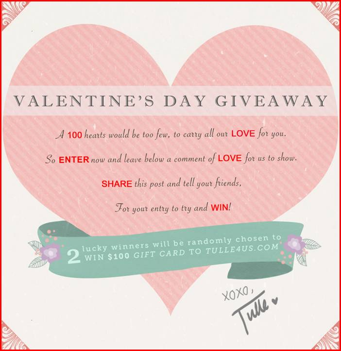 The Chic Bargainista®: Valentine\'s Day Facebook Giveaway Today ...