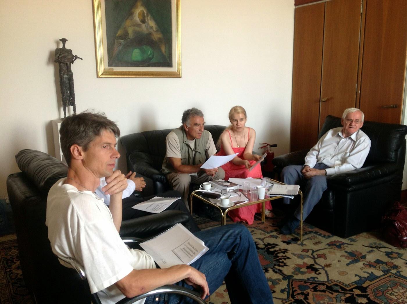 Prof.Ieronim Mihaila, dr.Arjen Dijksman, ing.J.-B.Deloly,Olivia Maria Marcov 2012