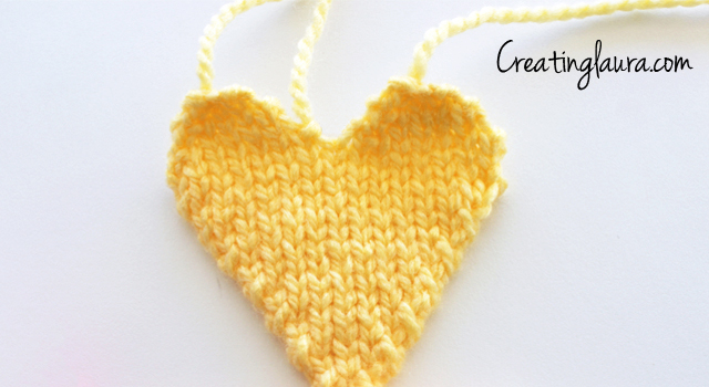 Creating Laura: Hanging Heart Knitting Pattern