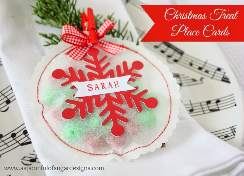 Christmas Treat Place Cards - A Spoonful of Sugar