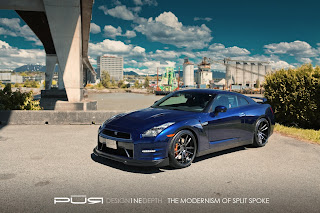 Nissan GT-R on PUR Wheels